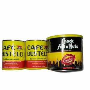 Coffee tins, great for crafts decor